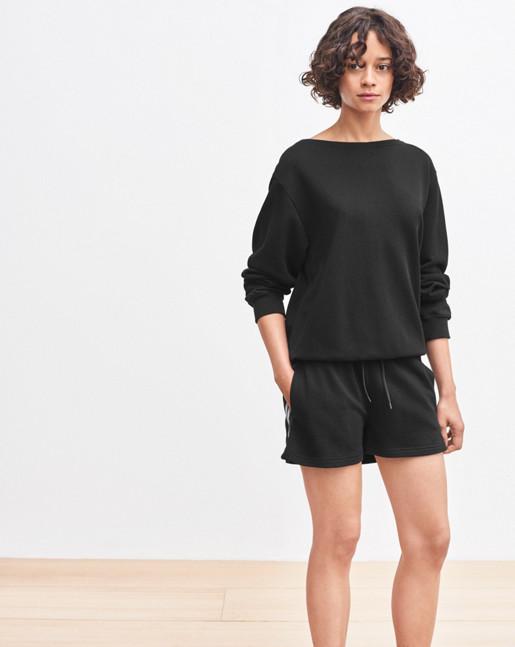 Boatneck Sweatshirt Black