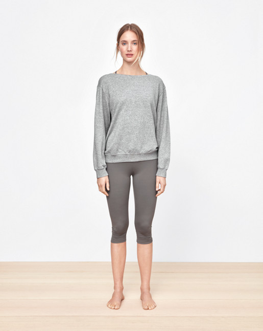 Boatneck Sweatshirt Grey Melange