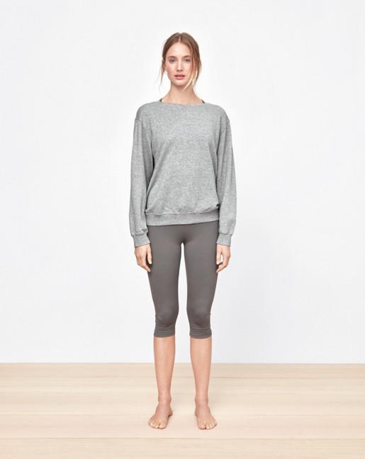 Boatneck Sweatshirt Grey Melange