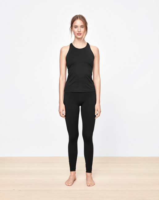 Support Yoga Tank Black