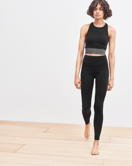 Seamless Crop Top Black