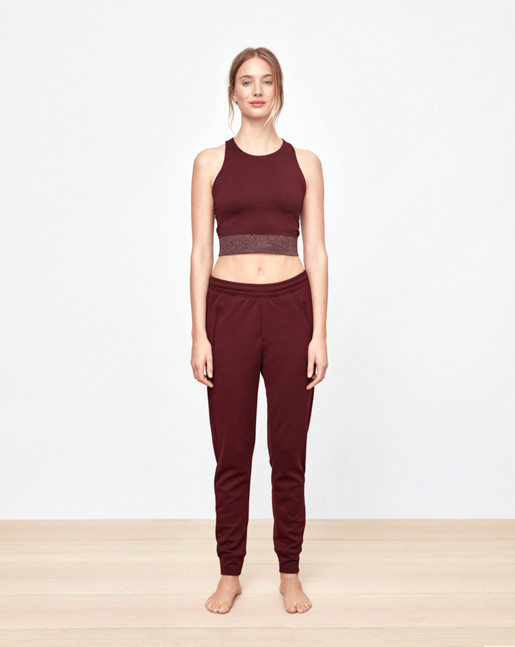 Seamless Crop Top Mulberry