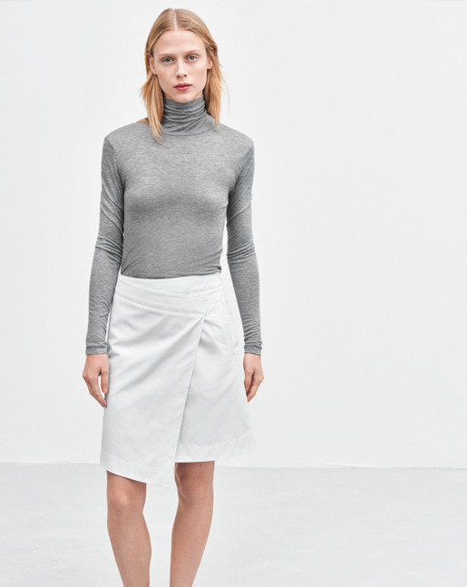 Turtle Neck Long Sleeve Grey Mel