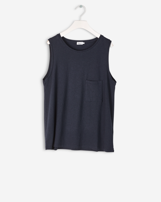 Cotton Linen Tank Night