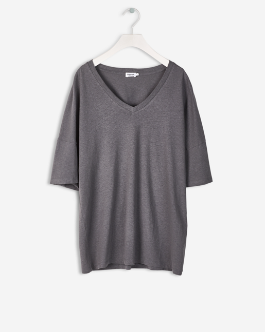 Cotton Linen Tee Concrete