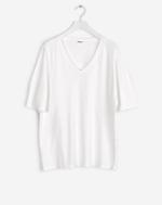 Cotton Linen Tee White