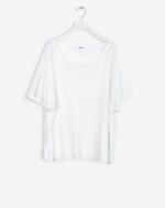 Rib Jersey Top White
