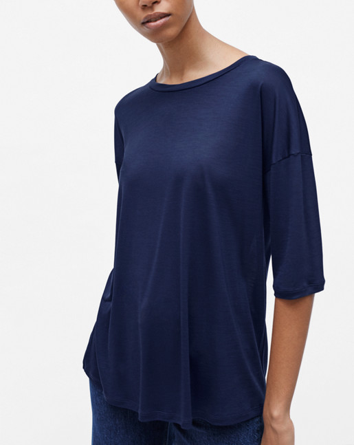 Elbow Sleeve Swing Top Midnight
