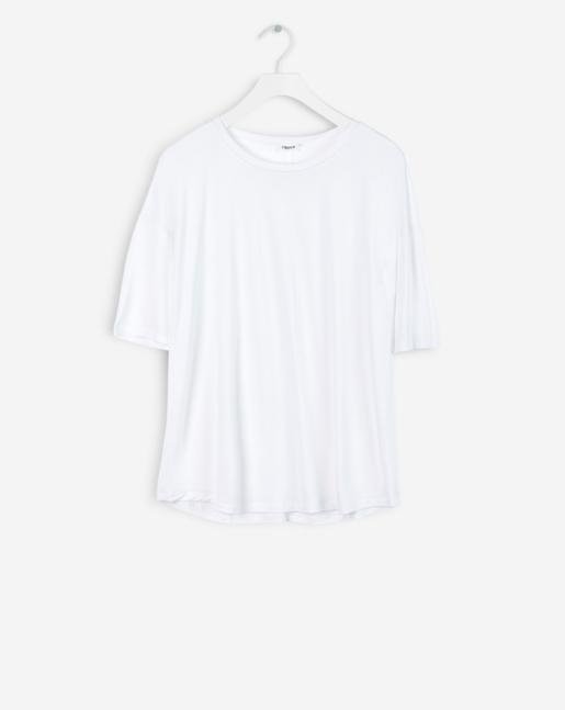 Elbow Sleeve Swing Top White