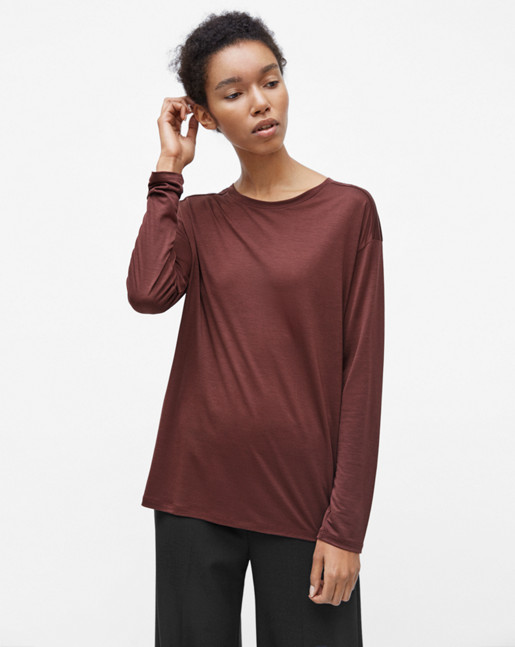 Long Sleeve Swing Top Fig