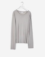 Roll Edge Long Sleeve Top Seafoam