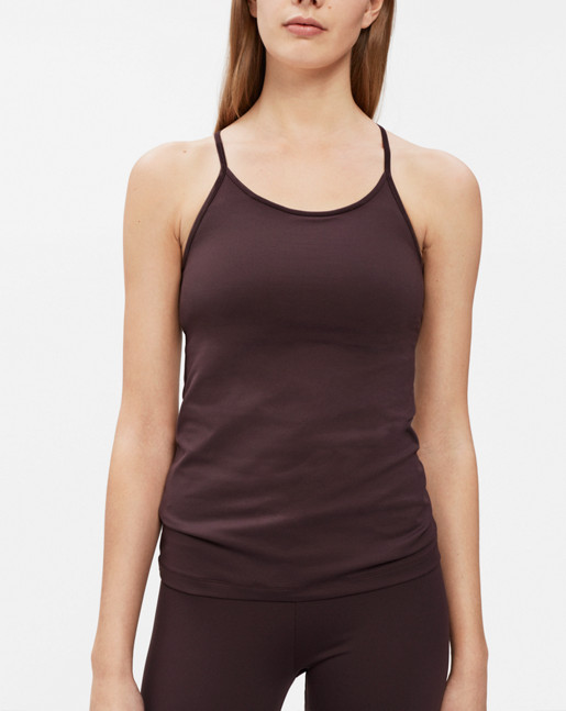 Strap Yoga Tank Raisin
