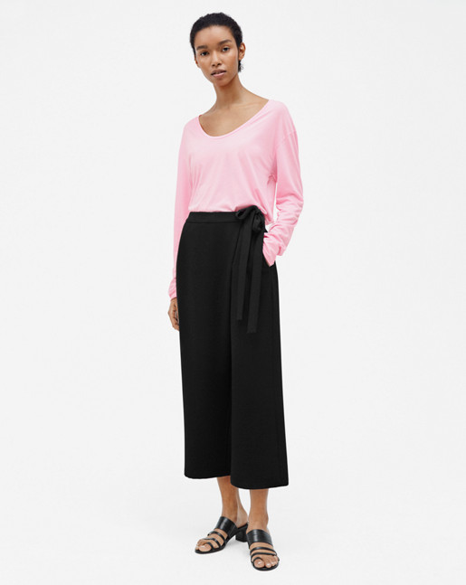 Scoop Neck Long Sleeve Top Candy