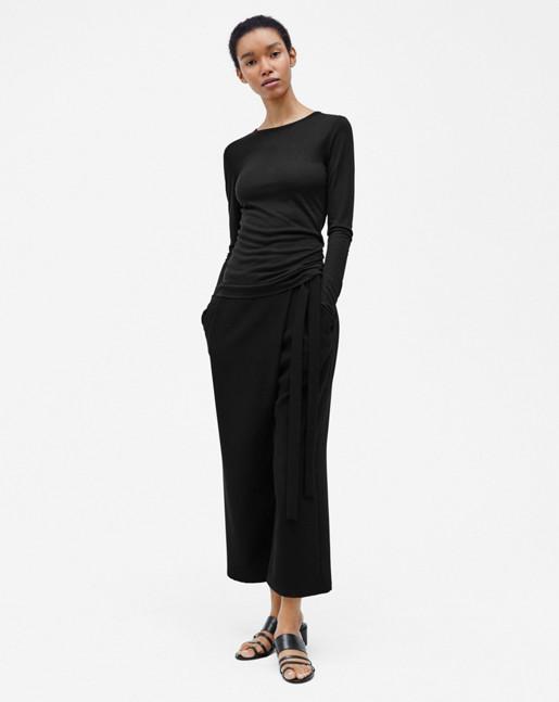 Slim Long Sleeve Top Black