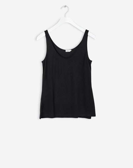 Double Scoop Tank Black