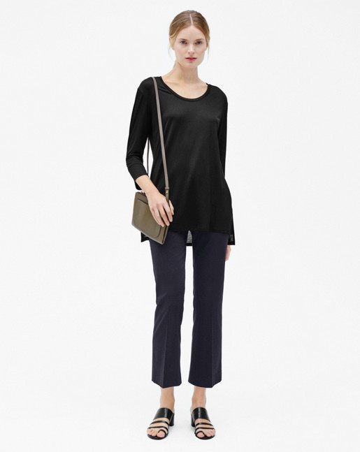 Tencel Tunic Top Black