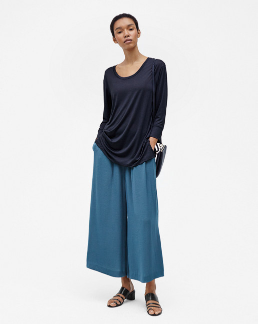 Tencel Tunic Top Navy