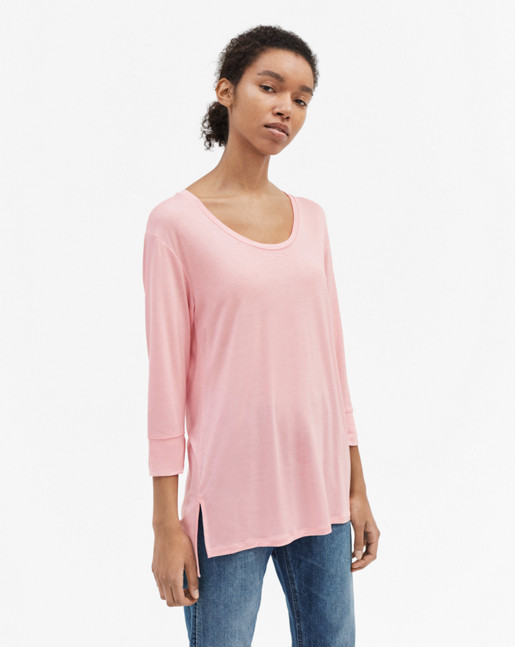 Tencel Tunic Top Rosebud