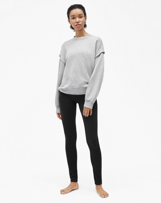 Relaxed Felpa Sweater Light Grey