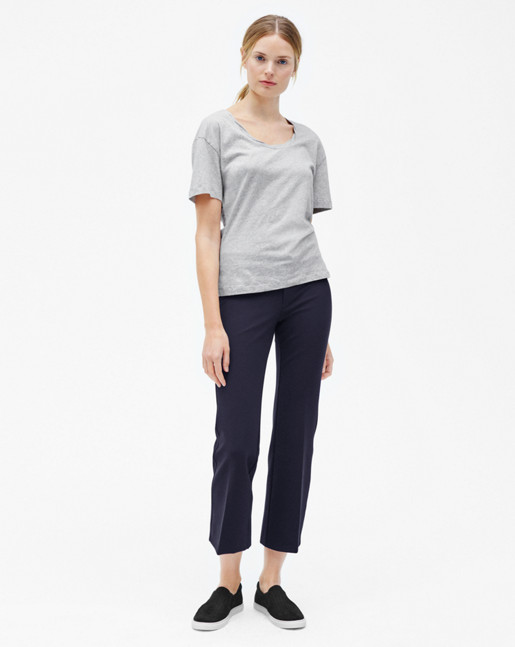 Twist-neck Tee Light Grey