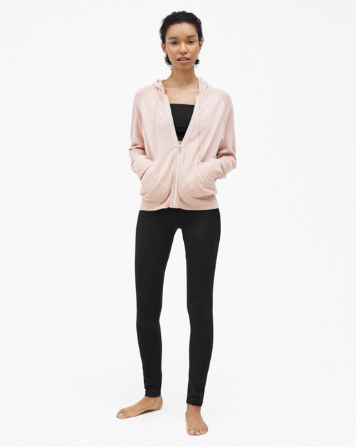 Soft Sport Cashmere Hoodie Pale Pink
