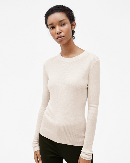 Slim Rib Knit Top Porcelain
