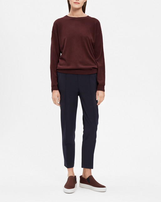 Merino R-neck Pullover Fig