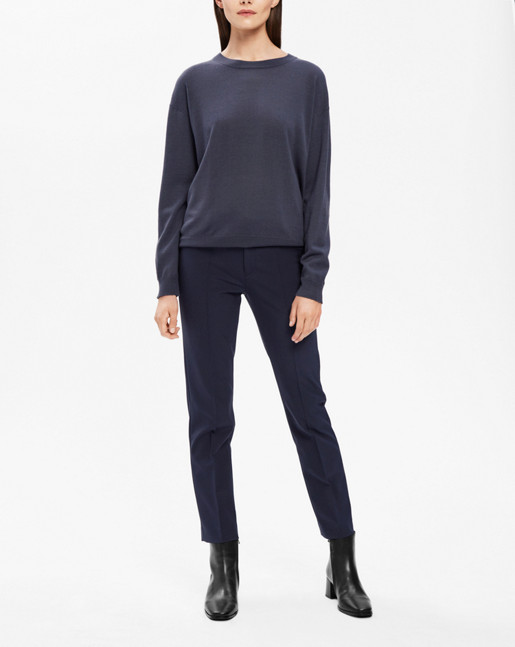 Merino R-neck Pullover Iron