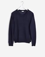 Merino R-neck Pullover Navy