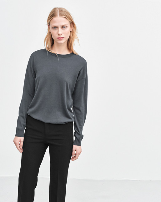 Merino R-neck Pullover Rock
