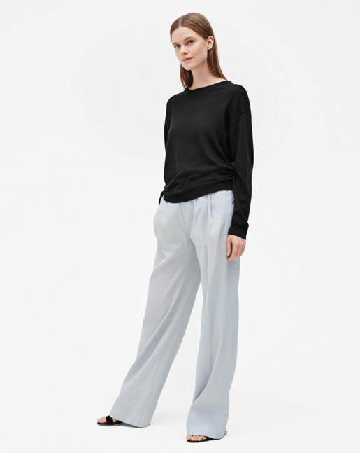 Merino R-neck Pullover Black