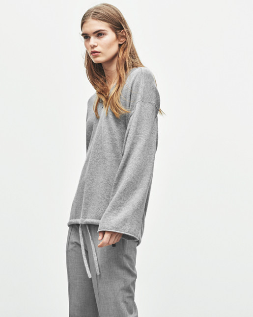 Cashmere Drawstring Pullover