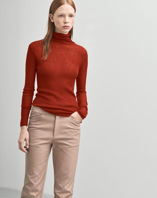 Slim Rib Roller Red Rust