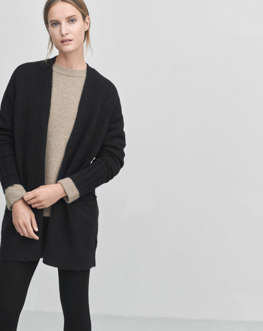 Cozy Wool Cardi Black