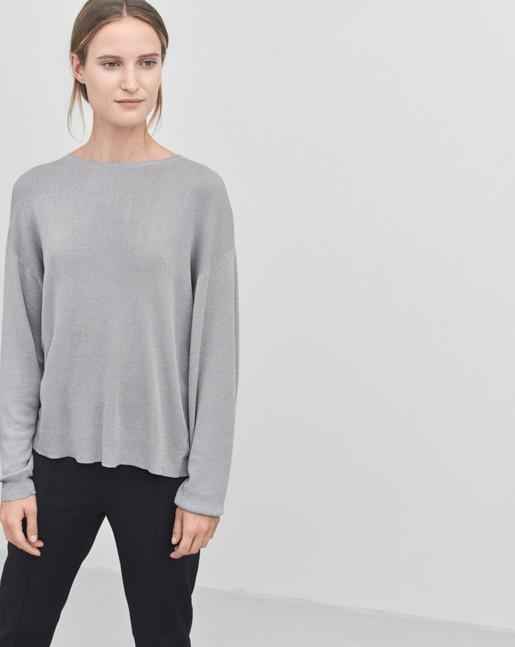 Lurex Sweater Silver