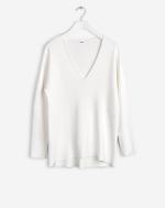 Sharp Milano V-Neck Pullover Offwhite