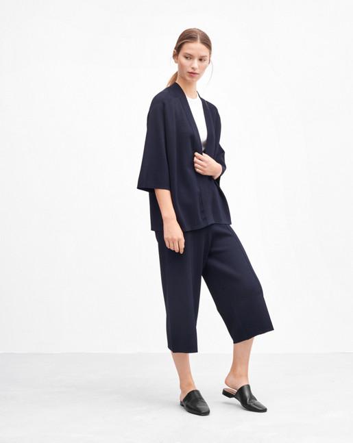 Sharp Kimono Jacket Navy