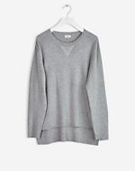 Sporty Knit Sweater Grey Melange