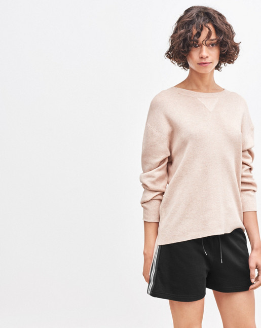 Sporty Knit Sweater Powder