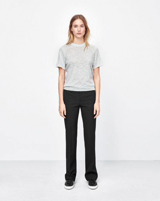 Cotton Silk Tee Light Grey