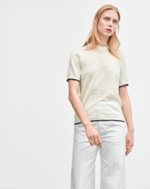 Cotton Silk Tee Off White