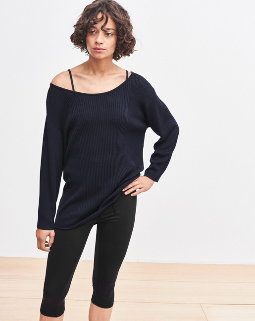 Drapey Rib Sweater