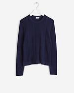 Rib Cotton Pullover Bright Navy