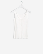 Ribbed Cotton Tank Off White