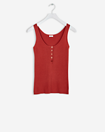 Ribbed Cotton Tank Spice