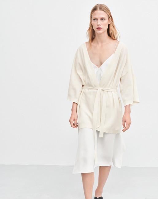 Knitted Summer Kimono Off White