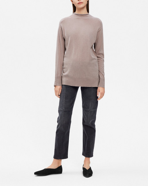 Mock Neck Pullover Fawn