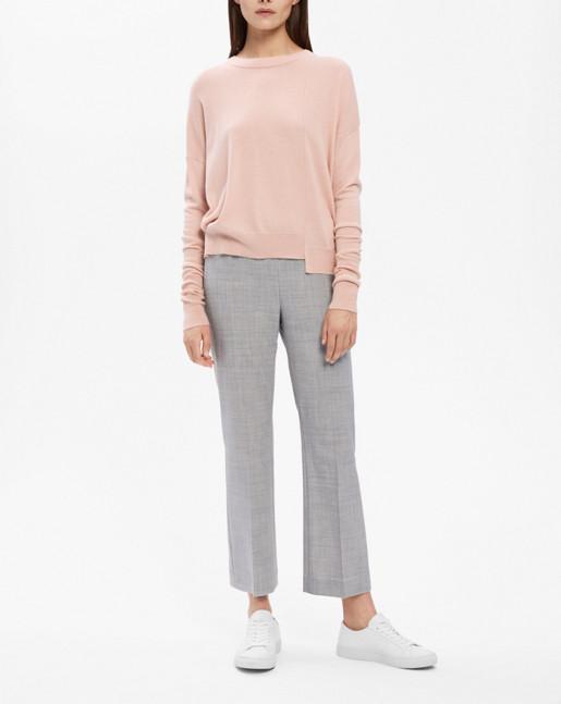 Asymmetric Drapey Pullover Blush