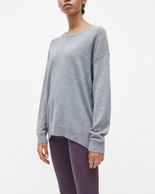 Cashmere Sweater Grey Mel.