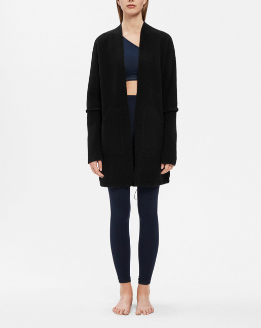 Layer Drawstring Cardi Black